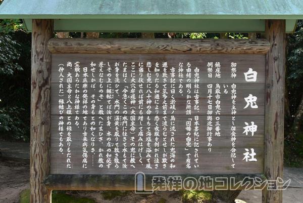 白兎神社 縁起(日本の医療発祥の地)