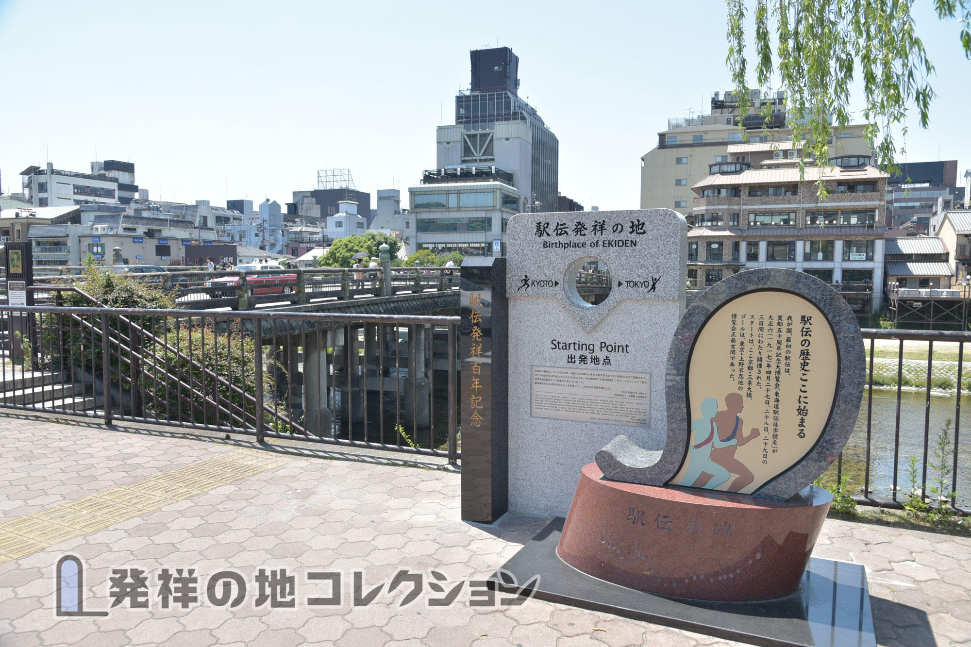 駅伝発祥の地と三条大橋